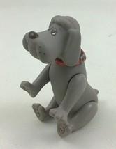 "Tonka Pound Puppies Grey Dog Poseable 4"" Figure PVC Dog Vintage 1986 80s Toy - $16.78"