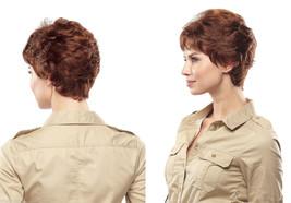 Short Monofilament Jon Renau Petite Pam Wavy Blonde Brunette Red Grey Wigs  - $259.38