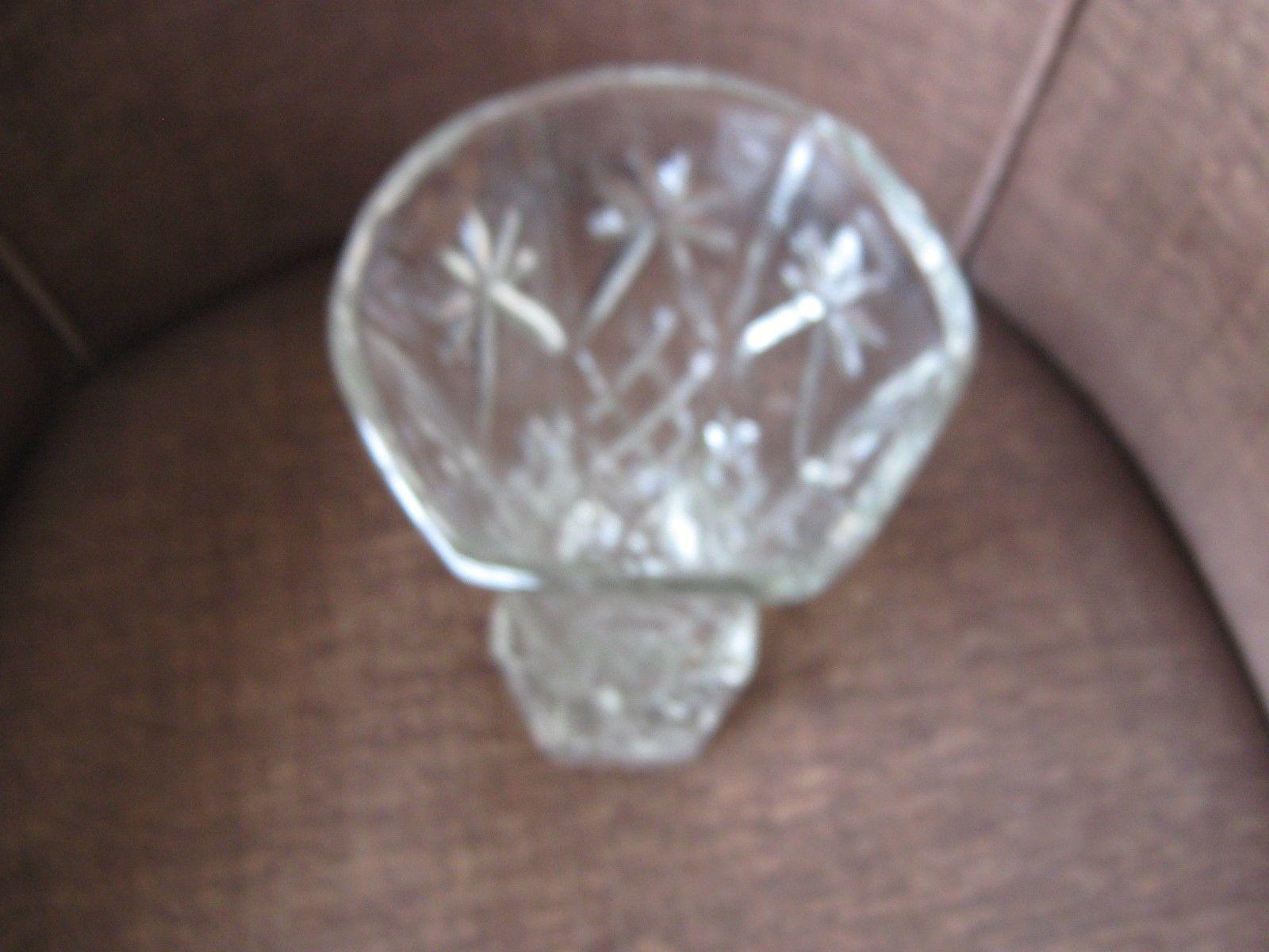 "Anchor Hocking ,  Glass STAR of DAVID,  Early American Prescut  , 8-1/4"" Vase - $19.91"
