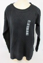 Calvin Klein Jeans Ladies' Core Texture Mixed Crew Sweater - Black - Small - $15.72