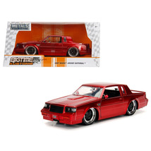 1987 Buick Grand National Candy Red 1/24 Diecast Model Car by Jada 30343 - $32.30