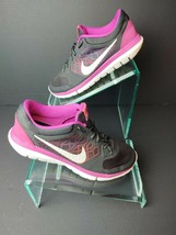 Nike Womens Flex 2015 709021-001 Grey Pink Running Shoes Lace Up Size 9.... - $29.99