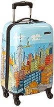 Samsonite Luggage NYC Cityscapes Spinner 20, Blue Print, One Size - $184.32