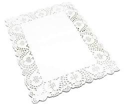 100 Pcs White Rectangle Lace Paper Doilies Placemats for Wedding Tea Par... - $18.59