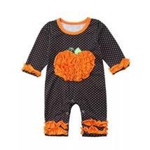 Halloween dot long sleeve ruffles jumpsuit outfit clothes - $10.99