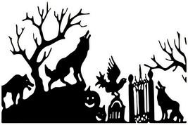 Halloween bat witch zombie 3D Window Decal WALL STICKER Home Decor Art M... - $6.92+