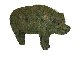 """Pig 23"""", 31"""" and 46"""" Topiary Sculptures - Moss Filled - $139.99+"""
