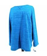 Karen Scott Sport Women's Sweatshirt XL Blue Teal Soft - $24.74
