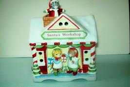 "Vintage 1980s Kitty Cucumber ""Santa's Workshop"" Music Box with 3 Kitties -Works! - $147.00"
