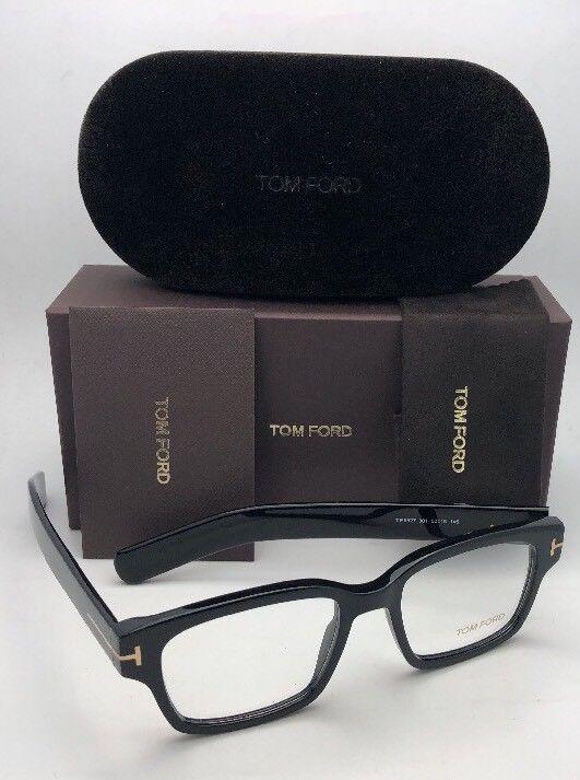 dd19380d11d0 New TOM FORD Eyeglasses TF 5527 001 50-18 145 Black   Gold Frame w