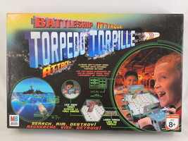 Battleship Torpedo Attack Game 2007 Hasbro Milton Bradley Bilingual Comp... - $16.71