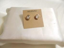 "Alfani 3/8"" Gold Tone Simulated Diamond Stud Earrings B1053 $24 - $12.47"