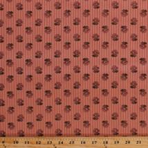 Jo Morton Amelia Flowers Pink Civil War Reproduction Cotton Fabric Print... - $10.95