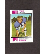 1973 Topps # 389 Fred Dryer Los Angeles Rams - $1.00