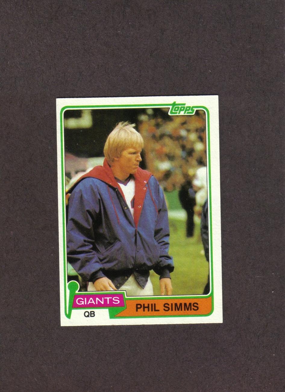 1981 Topps # 55 Phil Simms New York Giants NM Bonanza