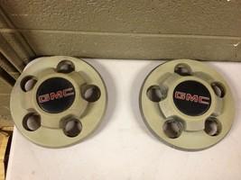 Pair 1983-1994 GMC Jimmy S15 Sonoma OEM wheel center cap rim cover hubcap (a332) - $17.33