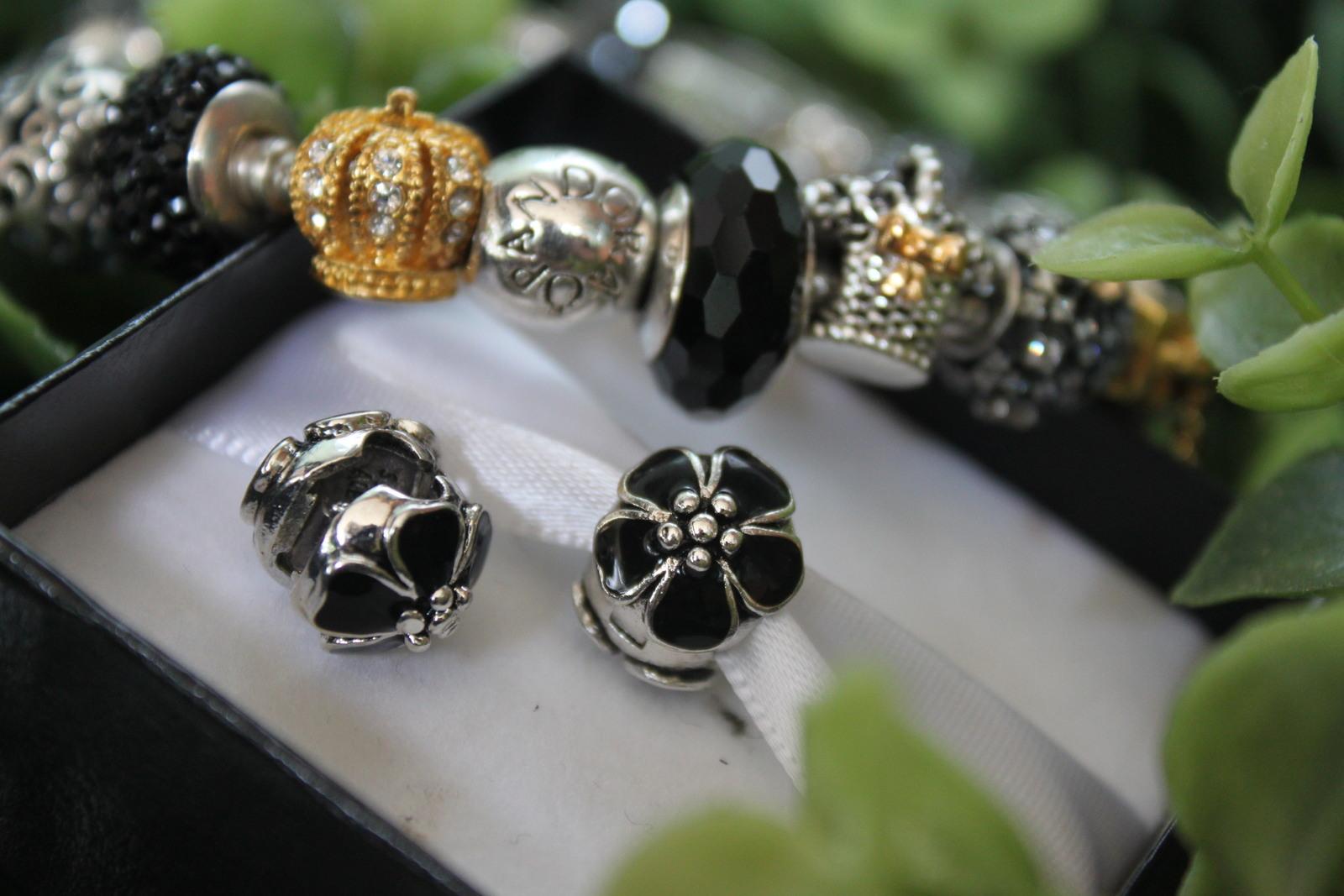 Sterling Silver 925 Flower Clip Charm Bead Fits Pandora Bracelets 1pcs