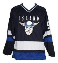 Any Name Number Island Iceland Retro Hockey Jersey Navy Blue Stahl #9 Any Size image 4
