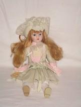 "Enesco 1984 Nostalgic Doll W/ Porcelain Head, Hands, & Feet ""Merry Beth"" - $16.14"