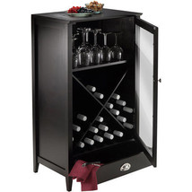 Modular 24 Bottle Wine Cabinet Bar w/ Shelf Storage Kitchen Home Furnitu... - £94.02 GBP