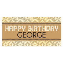 Ancient Greek Personalized Birthday Banner Party Decoration - $22.28+