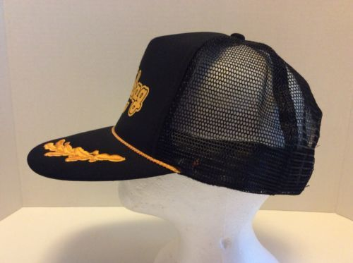 Otto Collection Scumbag Black Gold Vintage Style Trucker Cap Hat Mesh Snapback