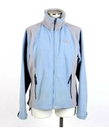 The North Face Blue Fleece Jacket Zip Up Hike Camp Outerwear Top Womens ... - $14.84