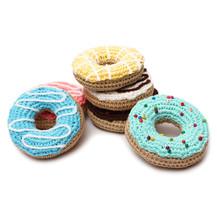 Donuts Handmade Amigurumi Stuffed Toy Knit Crochet Doll VAC - $23.99