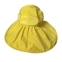 PANDA SUPERSTORE Simplicity Folding Sun Hat Straw Hat Wide Large Brim Be... - $24.25