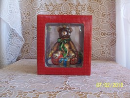 Fitz and Floyd Christmas Bear on Wagon NIB  - $32.03
