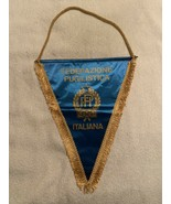 ITALIAN BOXING FEDERATION OLYMPICS PENNANT FLAG  Very good shape.  2006 ... - $24.95