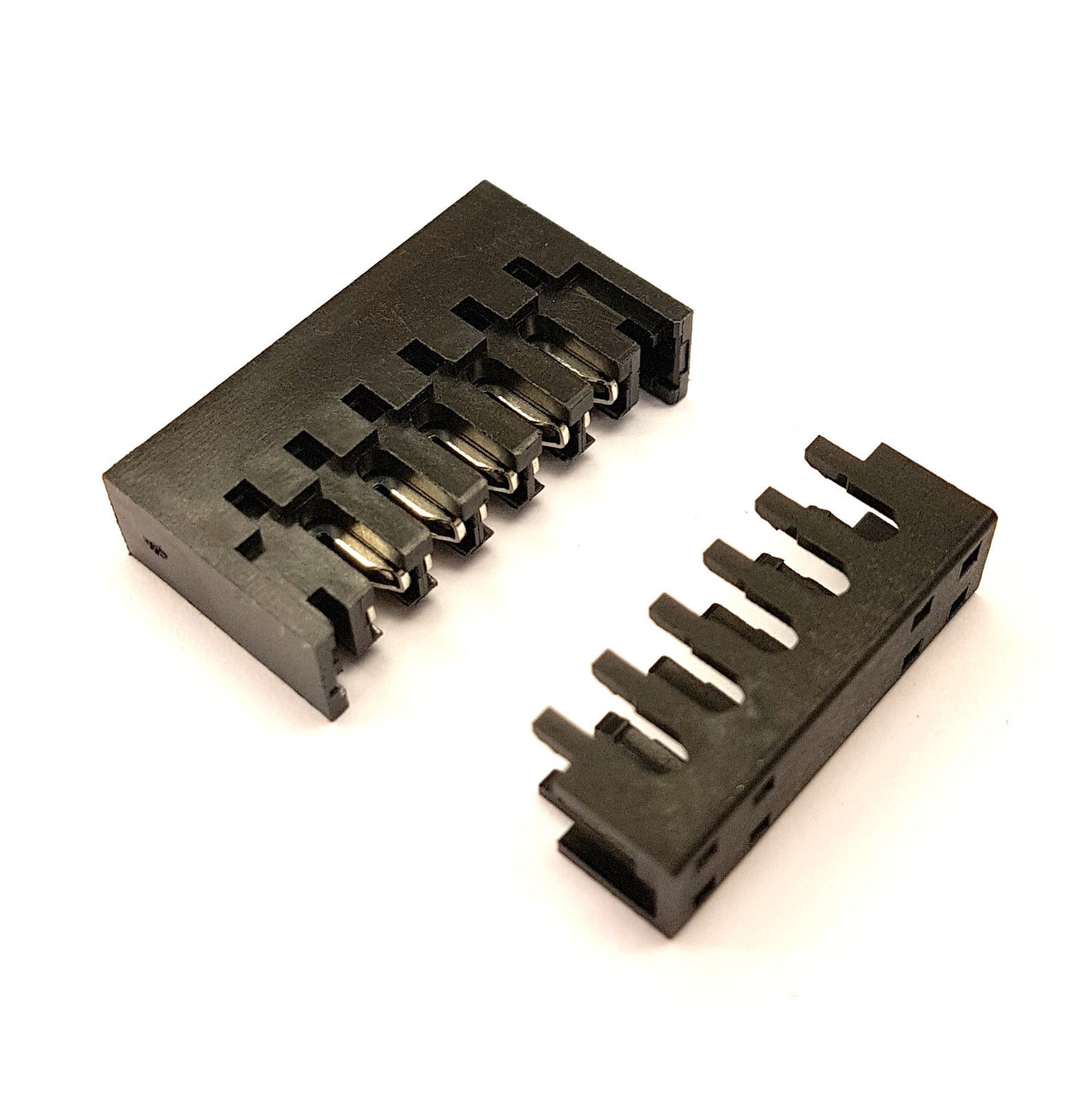 DIY STRAIGHT MALE SATA PC PSU POWER SUPPLY CONNECTOR + CAPS - PK OF 10