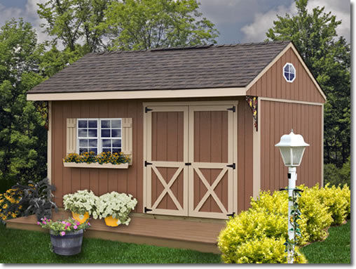 Best Barns Northwood 14x10 Wood Storage Shed Kit - ALL Pre-Cut