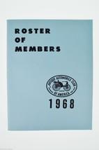 Antique Automobile Magazines 1968 Roster of Members Antique Automobiles,... - $10.00