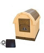 Deluxe Dog Palace Insulated Dog House w/ Floor Heater - Large, Dog Kenne... - $269.99