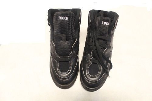 Bloch SO500L Adult's 7.5 (fits 6.5) Black Leather Mid Top Split Sole Sneakers image 4
