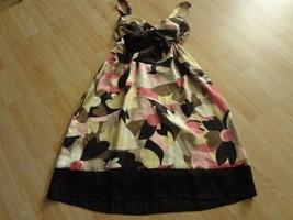 Women's Dressbarn Sz 6 Dress Yellow Pink Brown Tan - $11.29