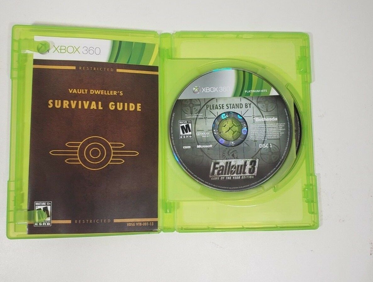 Fallout 3-Game of the Year X-Box 360