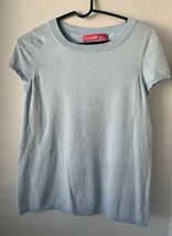 LIZ LANGE MATERNITY Light ice blue Sweater Top Short Sleeve Size Small - $7.91