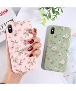 Cute Floral Flower Leaf Soft TPU iPhone Case XR X XS Max 6 6S 7 8 Plus C... - $3.99