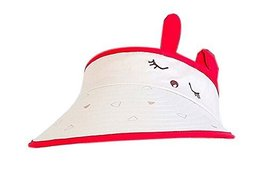 Children Sun Protection Hat Lovely Eyes Cap Without Top 2-4 Years(Beige)