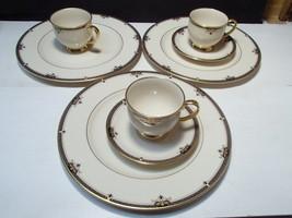 8 Pieces Lenox Potomac ~ 3 dinner ~ 2 saucers ~ 3 cups ~~ fill ins - $59.95