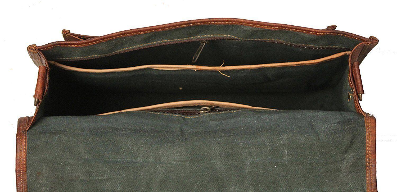 Men's Leather Messenger Shoulder Briefcase Bag For Business Work Office Use image 6