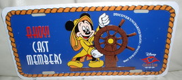 Disney Cruise Line Cast Member only Mickey Helm License Plate - $49.99