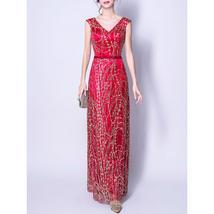 Women Fascinating Sleeveless Decortaed Wedding Dress - $119.99