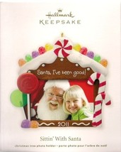 Hallmark Ornament   ~   2011  SITTIN' WITH SANTA  /  X-Mas Tree Photo Ho... - $6.95