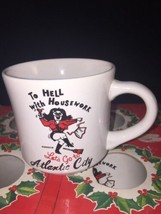 VTG 6 Joy of Christmas Coffee Mugs Box To Hell W/ Housework Lets Go To A... - $39.99
