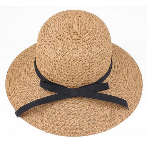 NEW Sale Summer Wide Brim Beach Sun headdress Straw Floppy Elegant Bohemia Hat