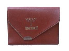 Vintage Judaica Israel Playing Cards Case Wallet w Menorah Symbol 1960's Piatnik