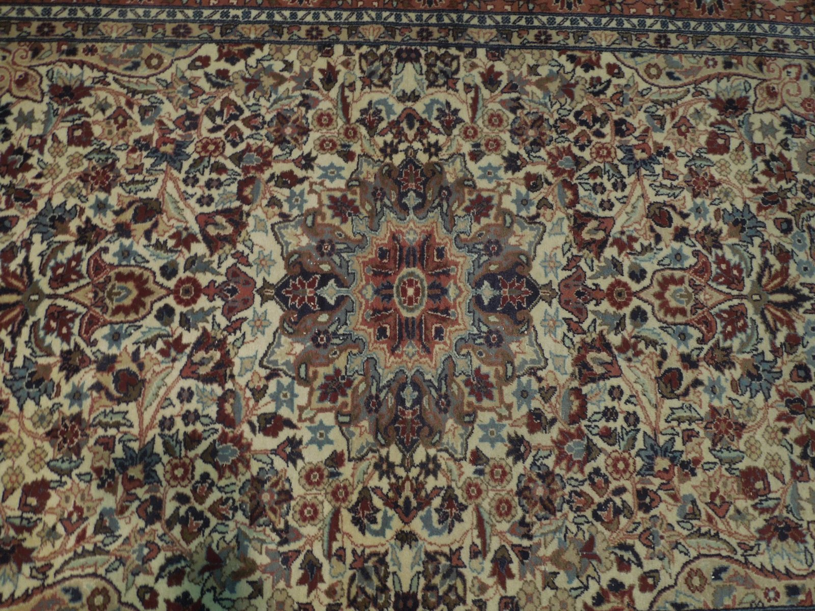 Ivory Wool Carpet 5 x 7 Fine Quality Reproduction Traditional Handmade Rug image 6